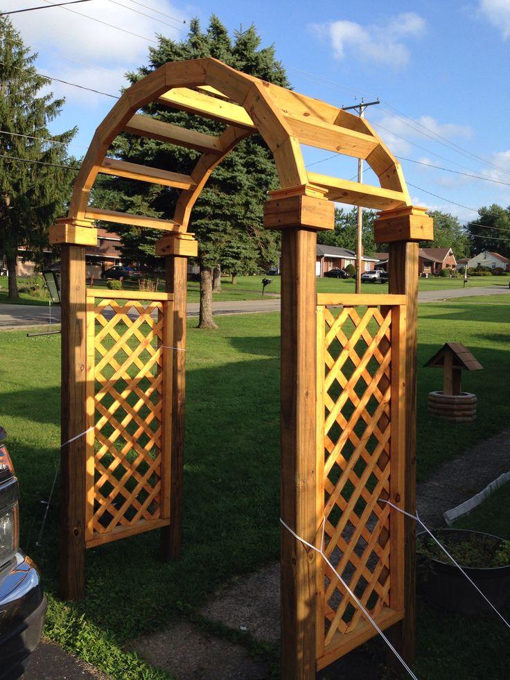 My arbor ) Garden arch, Outdoor structures, Outdoor