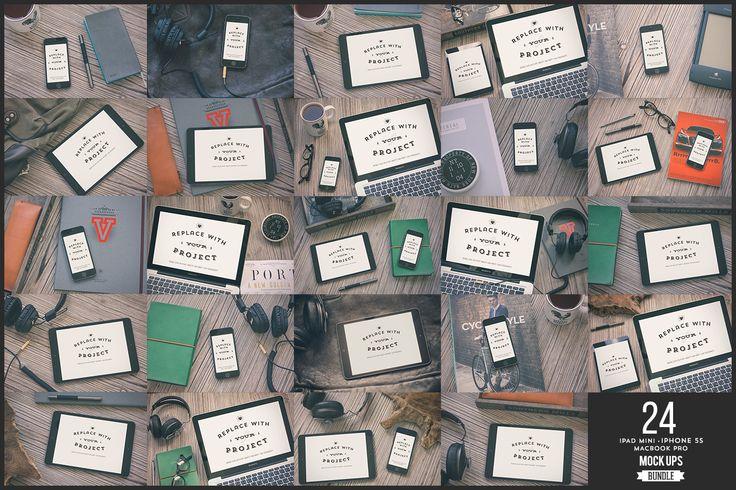 24 Devices Hip Mockups Bundle by Madebyvadim on Creative Market
