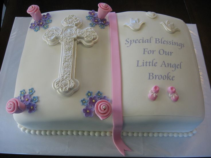 Cake Decorations For Christening Cake : 351 best Christening Cakes images on Pinterest First ...