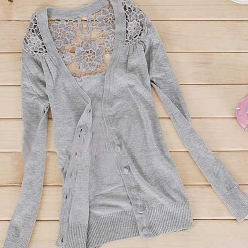 Lace back Cardigan...love me a good cardigan!