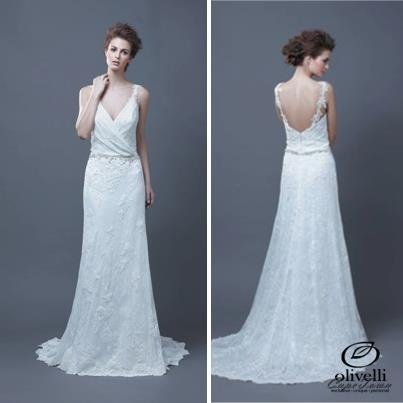 The Hanako dress from the Enzoani 2013 collection is an open back lace dress with a waistband... pinned with Pinvolve