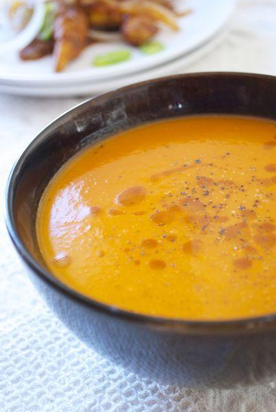 Sopa de tomate especiada, shorba de tomate, receta de cocina de la India en Thermomix