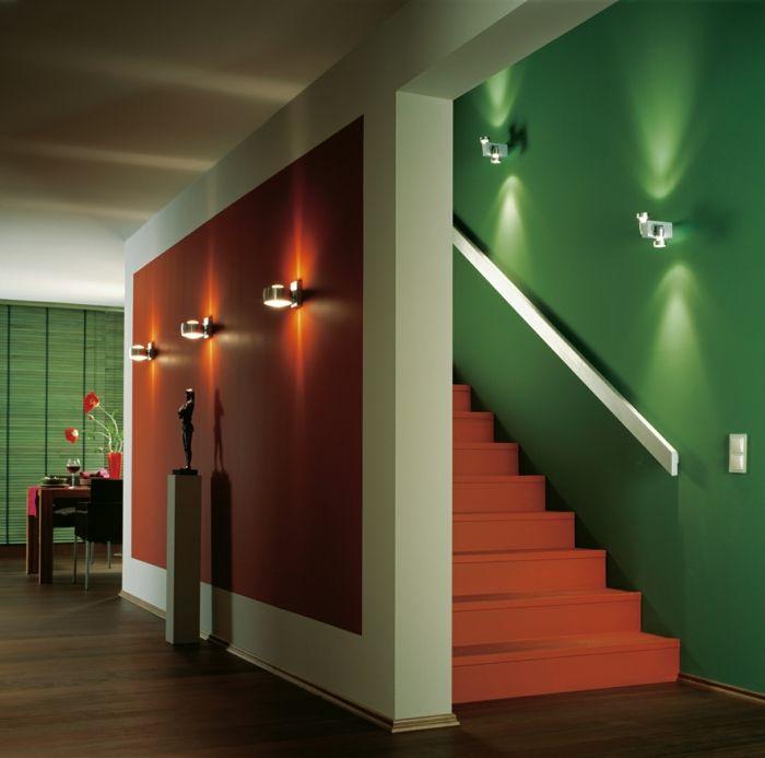 Indirekte Beleuchtung Decke Dunkeles Interior Leuchte Wandbeleuchtung Fcher