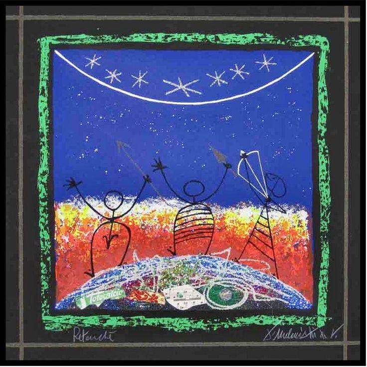 MELONISKY DA VILLACIDRO - ARCIERI - serigrafia retouchè - 50 x 50 cm