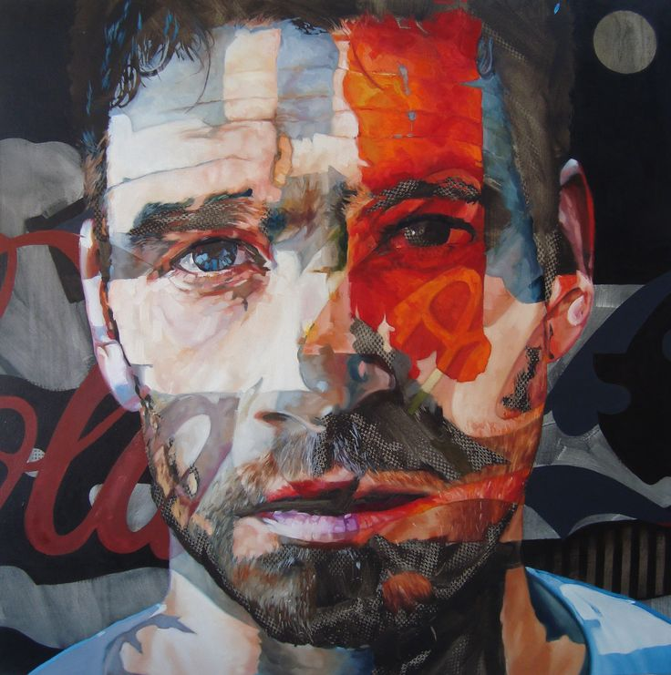 "Portrait by Corné Eksteen - ""The Subsidizer"" Oil on canvas, 100 x 100cm"