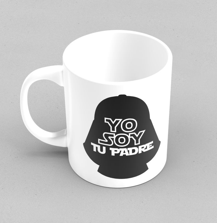 May the Force be with you... http://www.cosasderegalo.com/products/taza-original-yo-soy-tu-padre