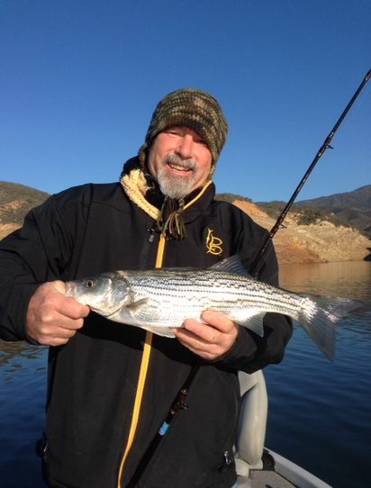 01 12 2015 and here is another smiling and happy angler for Castaic lake fishing