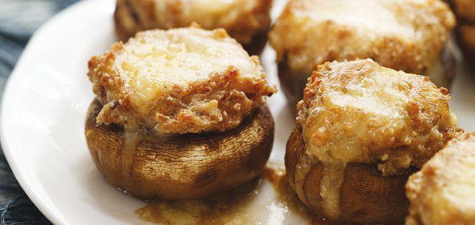 Two-cheese Stuffed Mushrooms