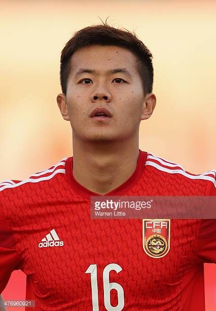 A portrait of Huang Bowen of China during the Asian Cup Qualification match between China and Iraq at the AlSharjah Stadium on March 5 2014 in...