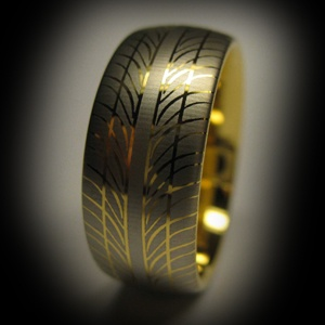 Tyre tread inspired rings for the automotive lovers out there in the www.