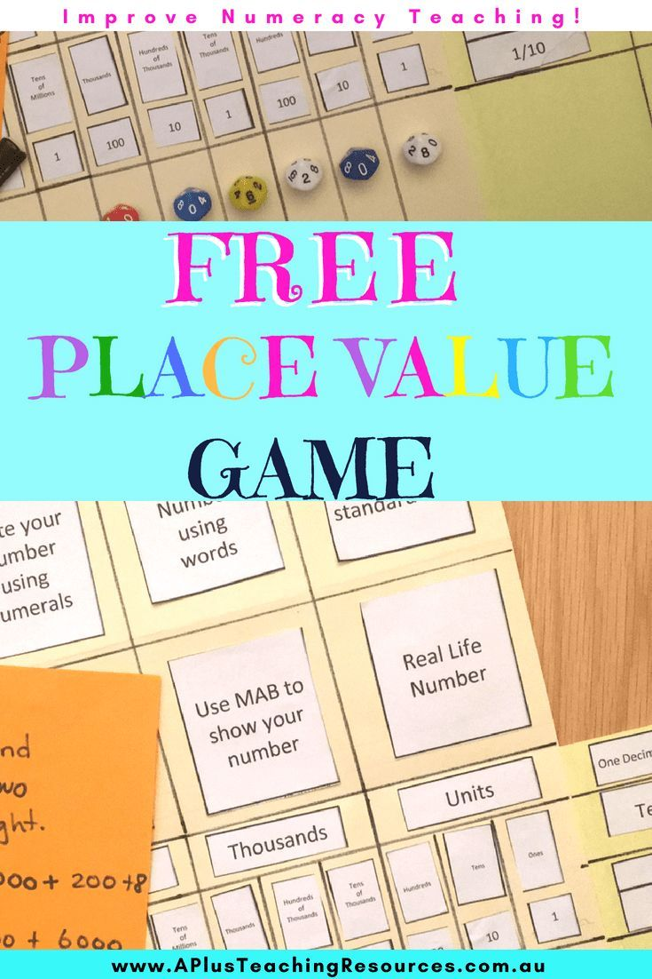 Free Place Value Template Classroom Freebies Place Values Math