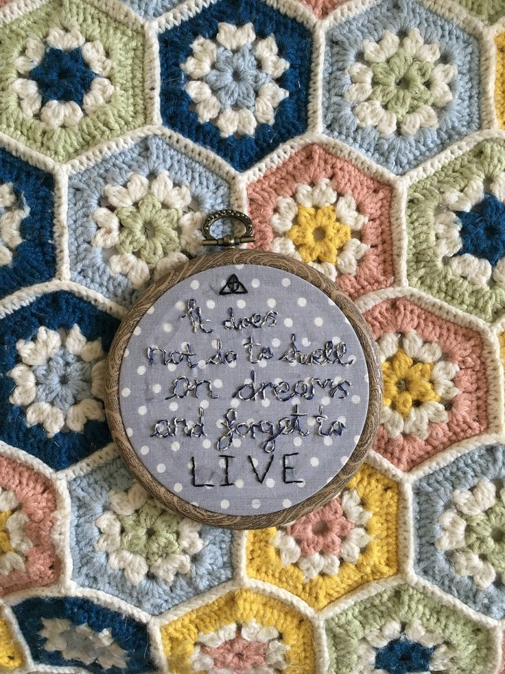 Harry Potter Quote Embroidery Hoop on Dotted Grey Cotton by OffthebeatentrackCo on Etsy