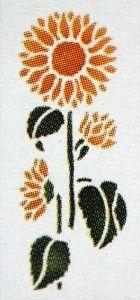 verfsjabloon zonnebloem
