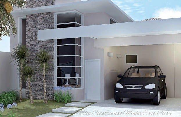 Fachadas de casas simples pequenas mas muito modernas - Casas con chimeneas modernas ...