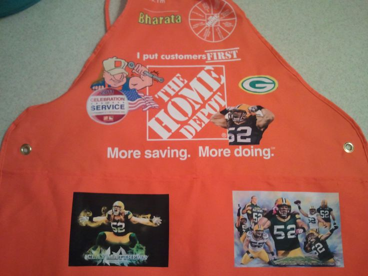 how to put on a home depot apron