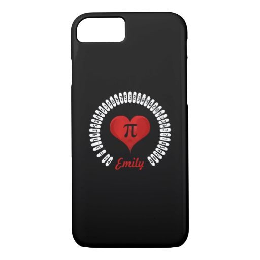 Pi Day Heart Math Digits 3.14 Funny Cute #PhoneCase #piday #love #mathematics