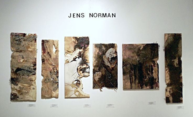 Jens Norman art on display at Empty Spaces Project. (July 2015)