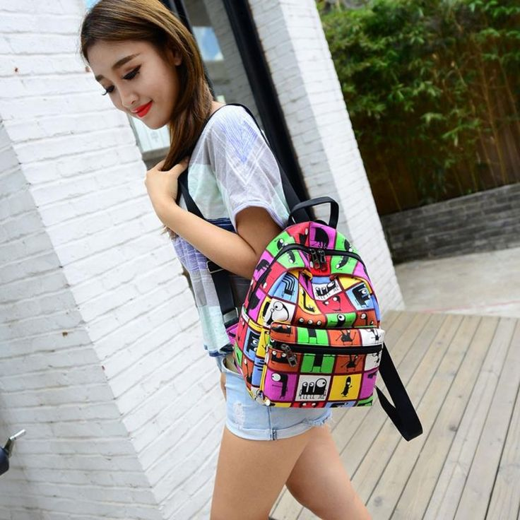 2016 Women Backpacks Canvas Printing Girl Travel Small Backpacks Teenager School Backpack Rucksack Bolsas mochila feminina#YH -  http://mixre.com/2016-women-backpacks-canvas-printing-girl-travel-small-backpacks-teenager-school-backpack-rucksack-bolsas-mochila-femininayh/  #Backpacks