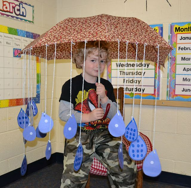 several preschool umbrella activities