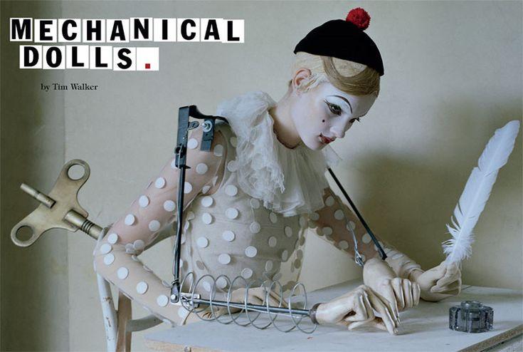 mechanical dolls por tim walker vogue italia