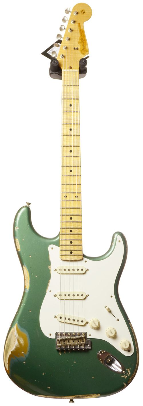 Fender Custom Shop 57 Strat Heavy Relic Sherwood Green over Aztec Gold #R79191 Main Product Image