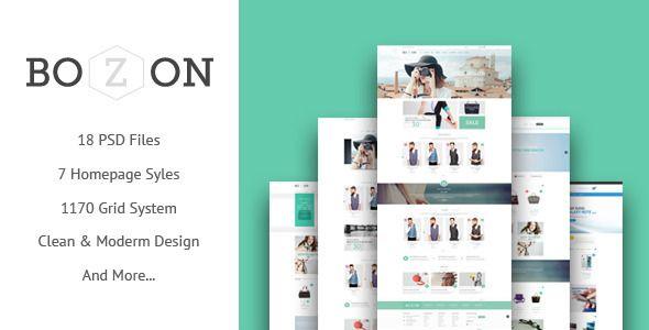 BOZON - ecommerce PSD template