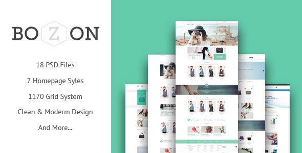 BOZON - ecommerce PSD template