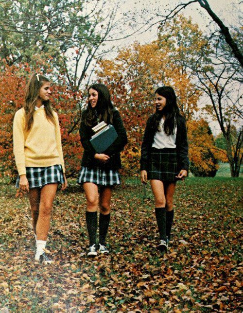 plaid tartan skirts, fall autumn leaves, back to school
