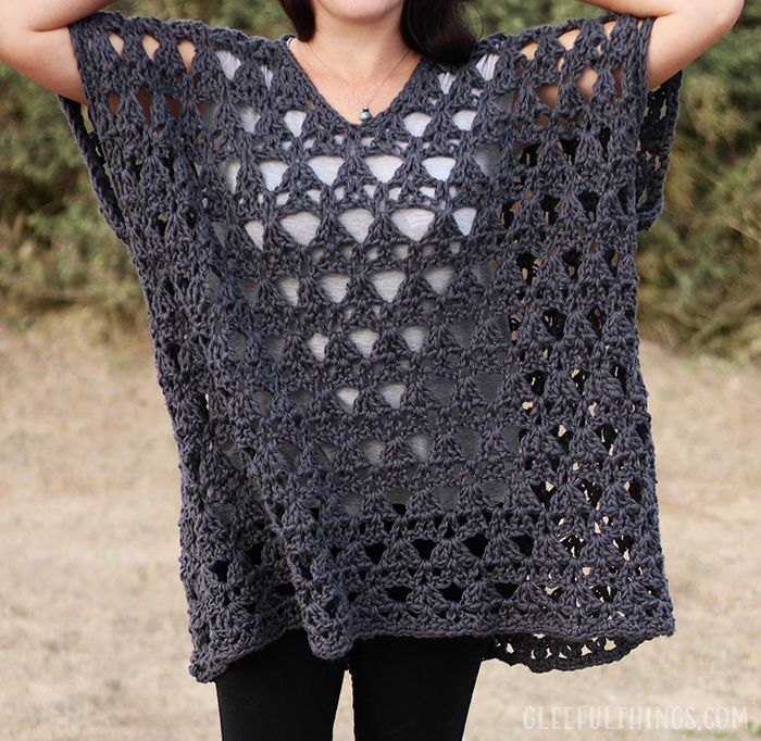 New Crochet Pattern: Point The Way Pullover (for purchase)