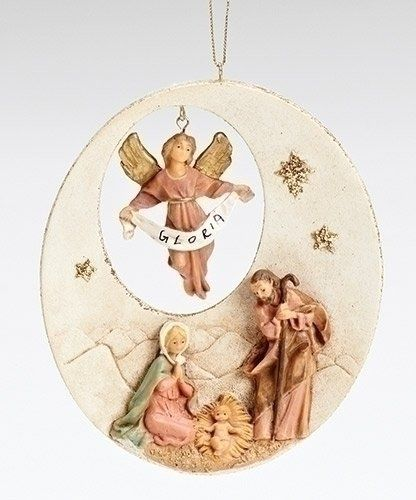 Holy Family With Angel Hair Glass Ornament: 440 Best Nativity Ornaments Images On Pinterest