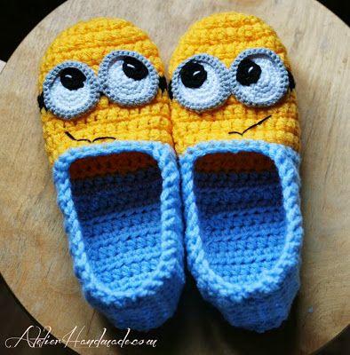 crochet minion slippers - NO pattern,