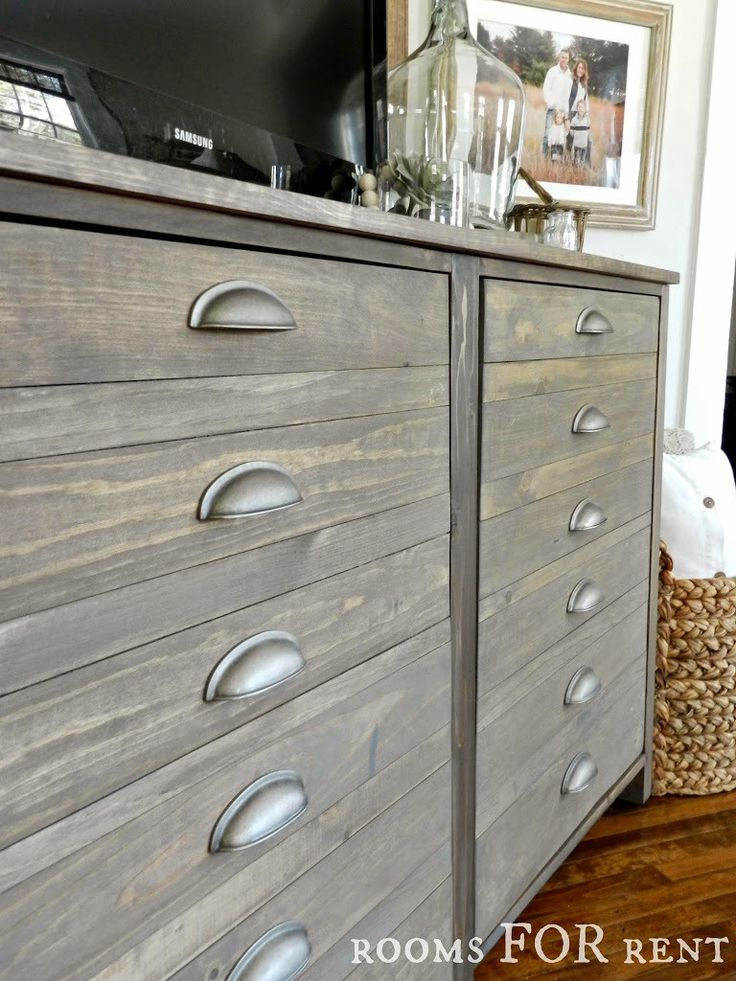 Diy Printer S Cabinet With Weathered Barnwood Driftwood