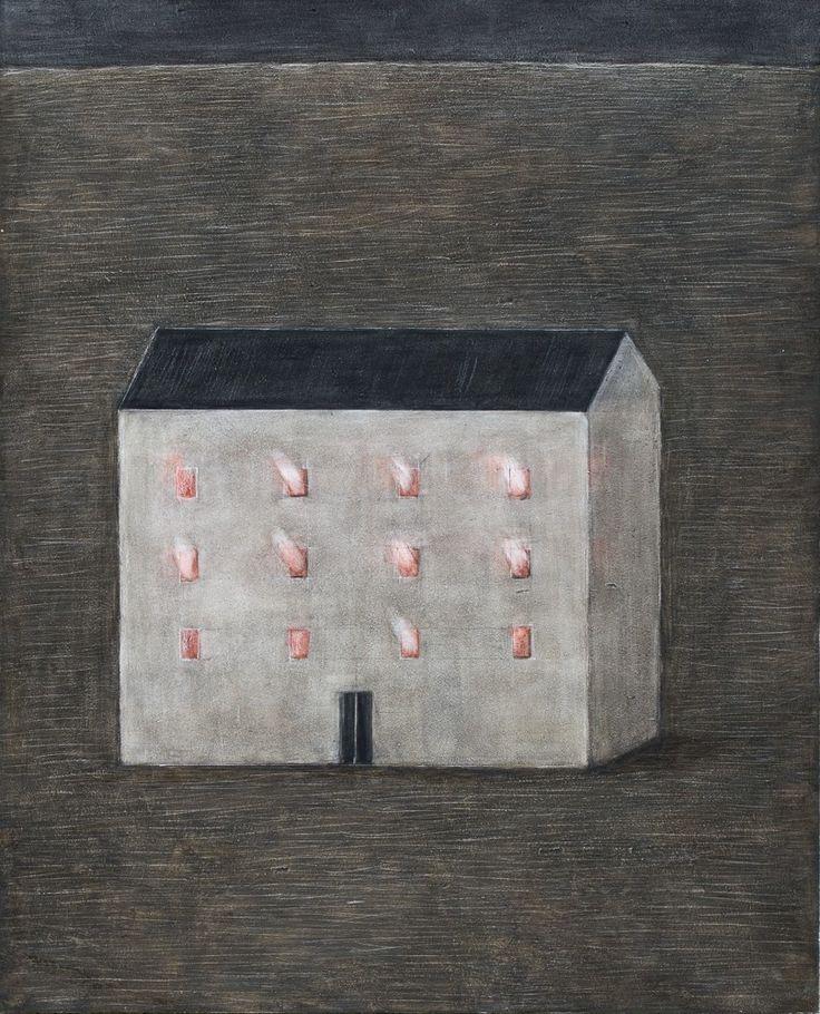Anežka Kovalová  3/  Planutí II, 2014, tempera na desce, 69 x 56,3 cm