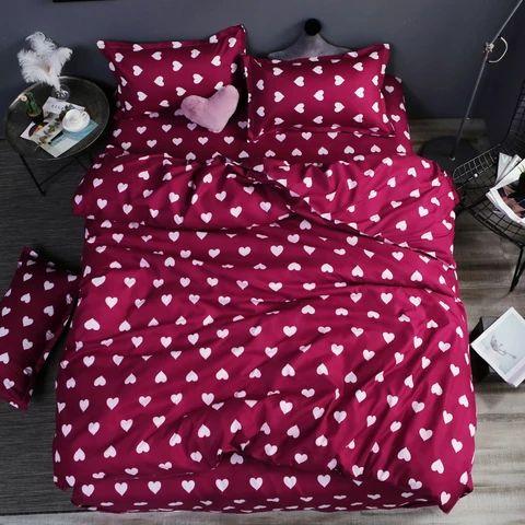 Moda simples estilo folha plana capa de edredão roupa de cama conjuntos …   – comprar