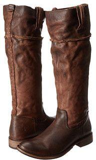 Frye Shirley Artisan Tall...Dark Brown Washed Vintage