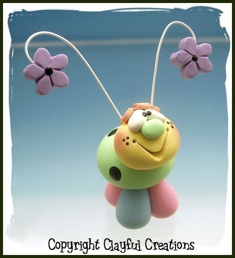 Becky's Polymer Clay Springtime Ladybug by clayfulcreations