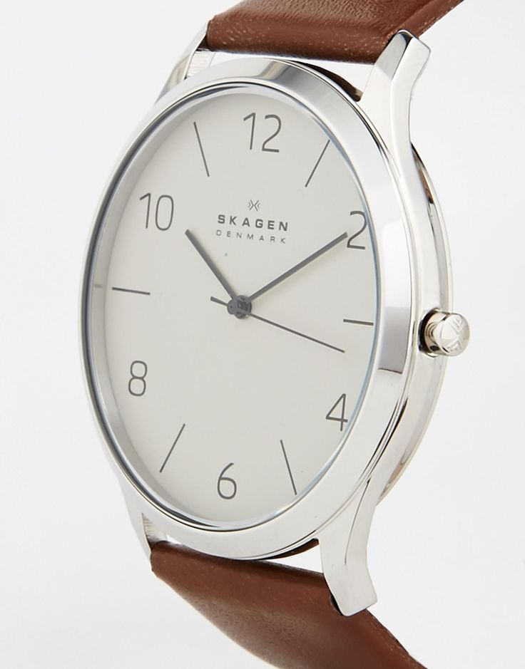 Image 3 of Skagen Leather Strap Watch SKW6150
