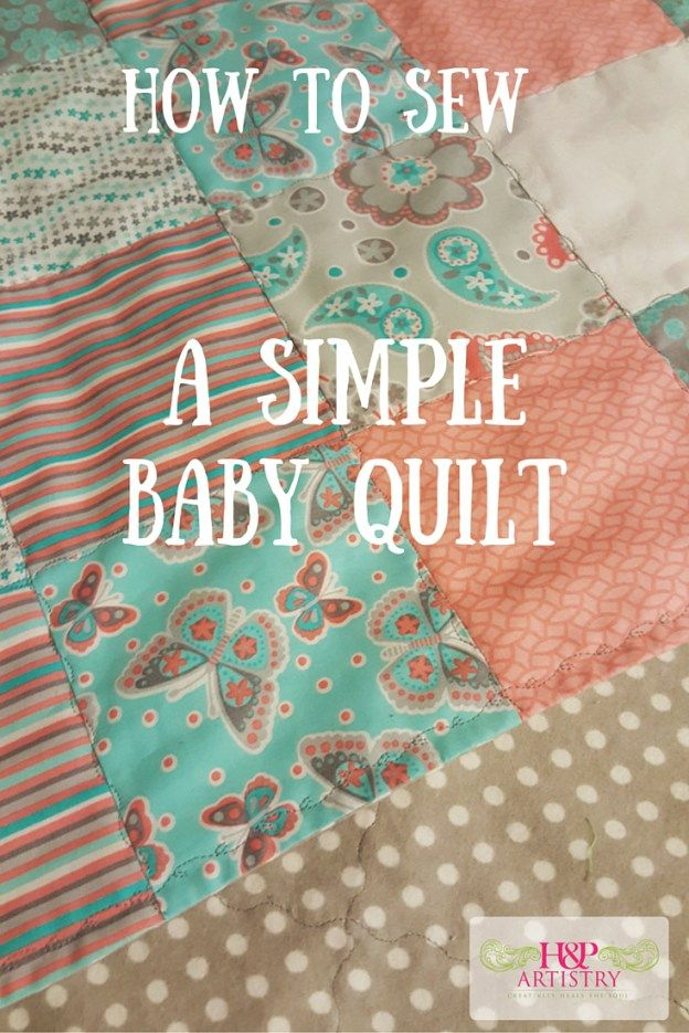 Sewing a Simple Baby Quilt | Find more cute sewing ideas for kids / babies at http://www.sewinlove.com.au/category/kids/