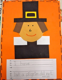 pilgrim craft and writing activity with free templates