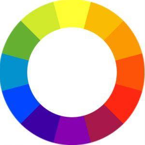 color blocking color wheel