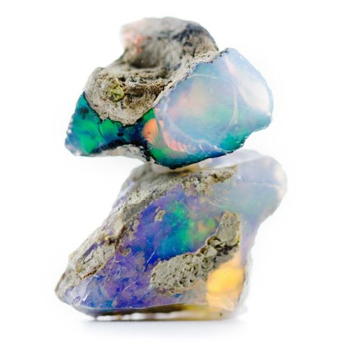 Opals are so integrated into the surrounding rock(and easily cracked) it is hard to get larger pieces.