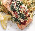 Salmon Florentine: Recipes: Self.com : You'll be hooked on the scrumptious taste of this meal; plus, it provides a hefty 8 grams of ticker-protective polyunsaturated fats. #SELFmagazine