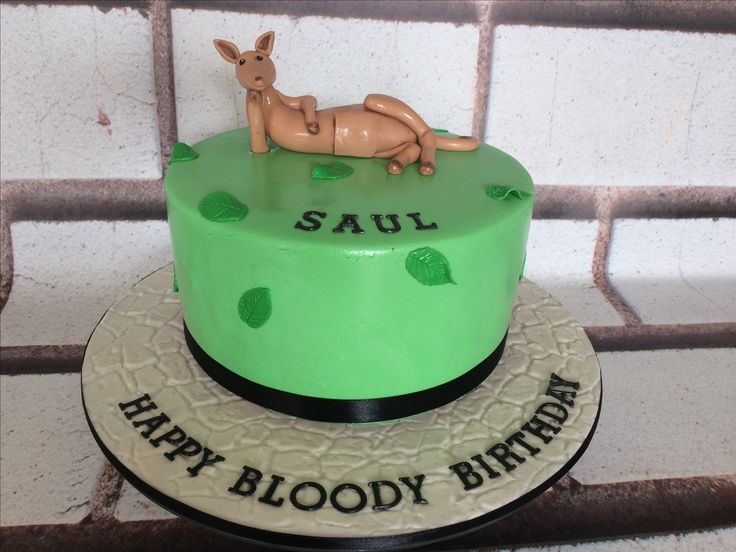 Kangaroo cake. Happy Birthday Saul!!!