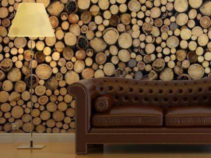 Fancy - Log Cabin Wallpaper