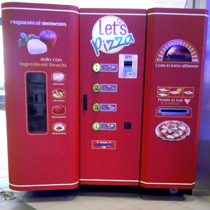Freshly Made Pizza Vending Machine In Italy