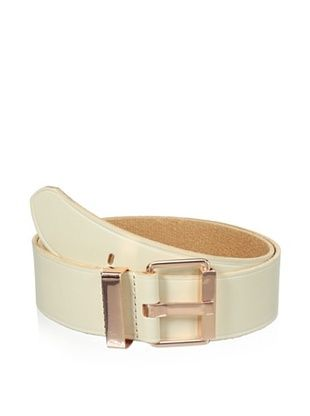Linea Pelle Women's Maya Square Buckle Belt