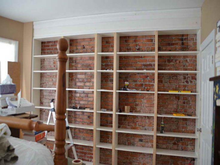 cabinet shelving diy built in shelves brick wall design diy built in shelves creation. Black Bedroom Furniture Sets. Home Design Ideas