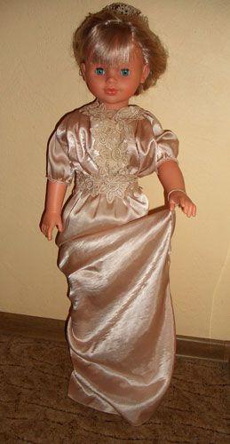 doll, pink, silk, dress