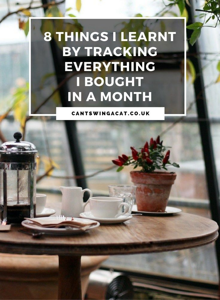 8 Things I Learnt By Tracking Everything I Bought In A Month   I kept track of my spending for a month & this is what I learnt   Budgeting
