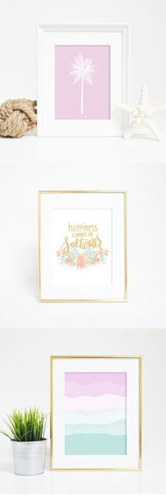 Happiness comes in saltwater! Especially with these coastal inspired art prints.